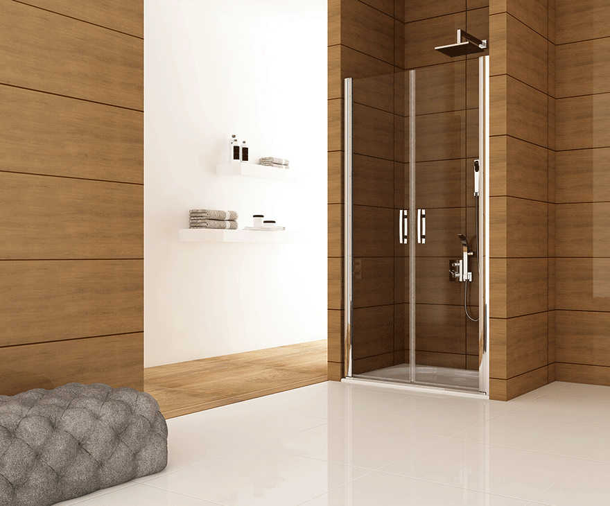 Душевые двери маятниковые GRONIX® Pivot серия на 2 двери - арт. GP2 ⋆  Gronix.ua
